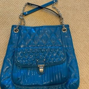 Coach blue quilted bag